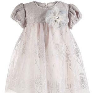 Bonnie Baby | Baby Girl Sequin Floral Print Dress
